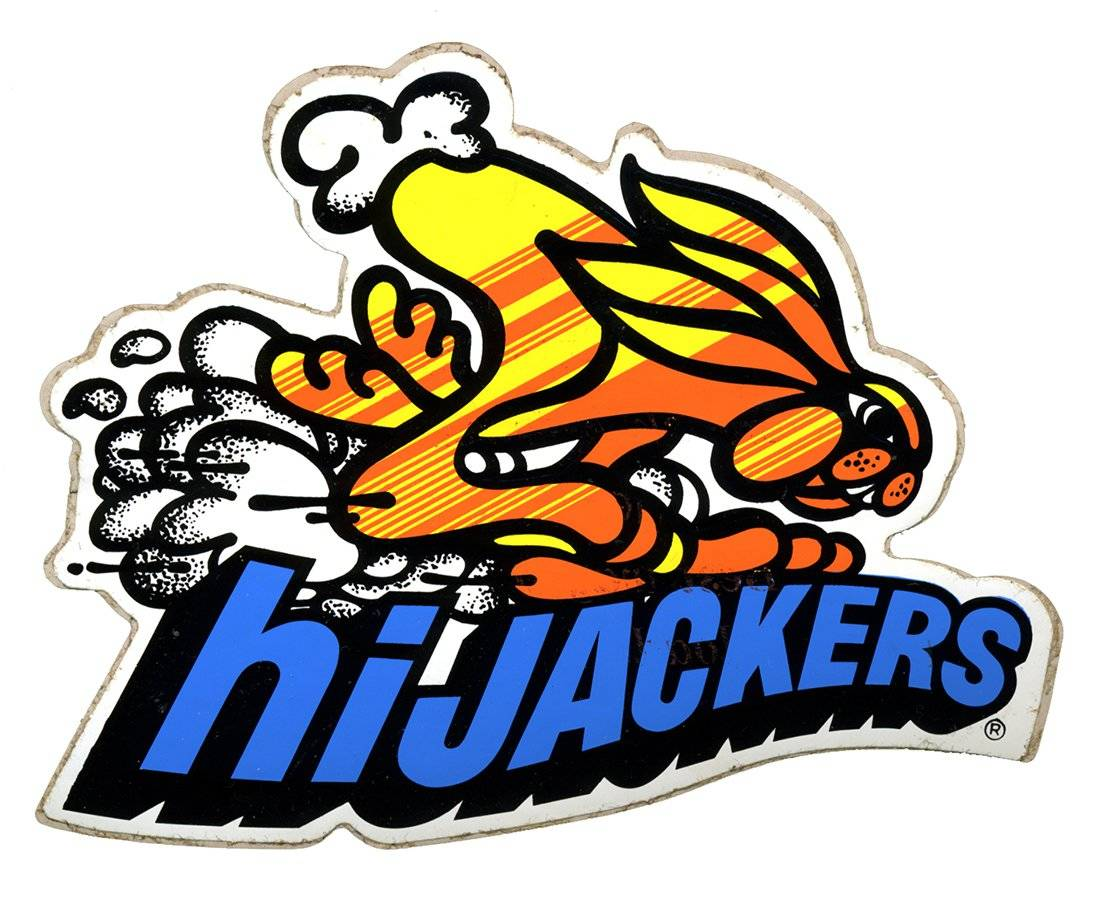 hiJackers Vintage Racing Logo Decal