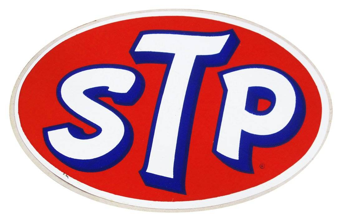 stp vintage race logo decal sticker