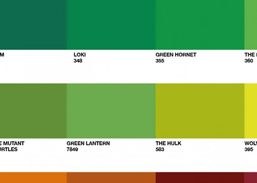 Graphic Design Color Swatch Poster