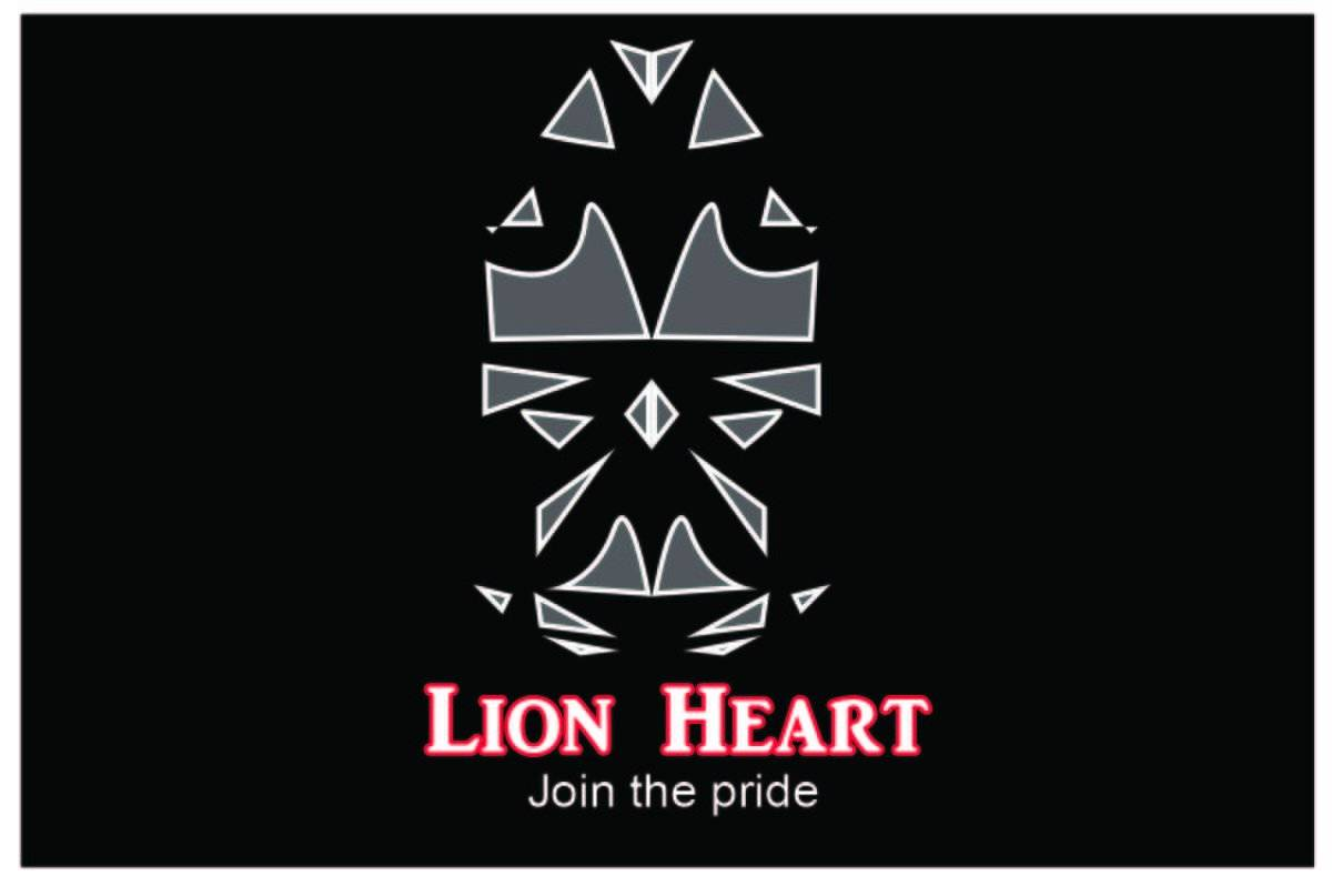 Lion Heart Logo and Graphic Design