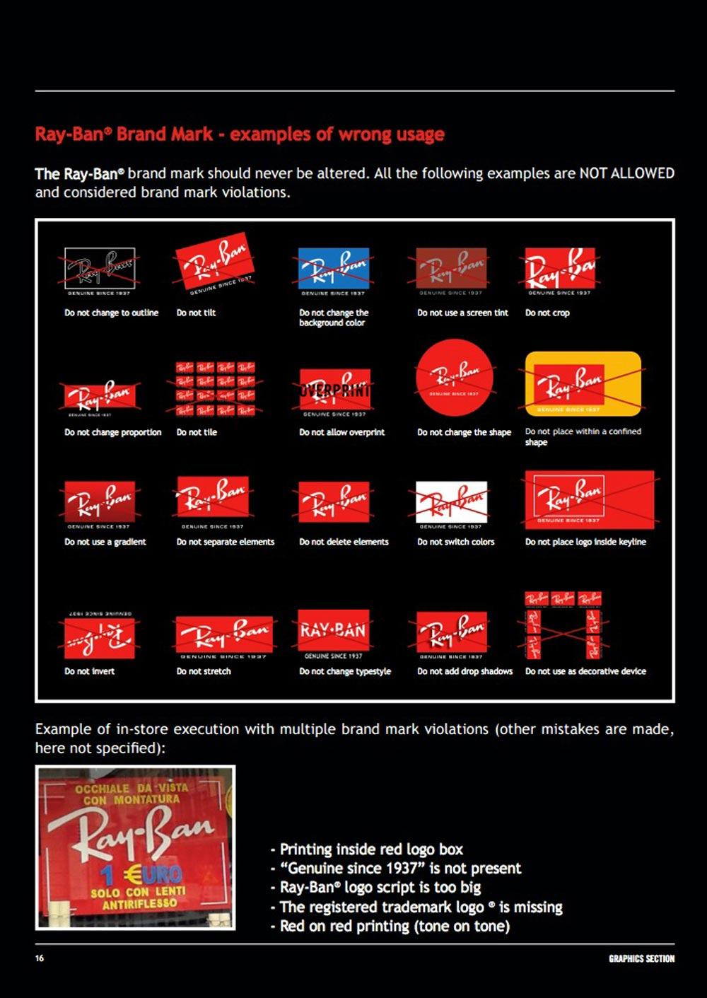 Ray-Ban Logo Brand Guidelines