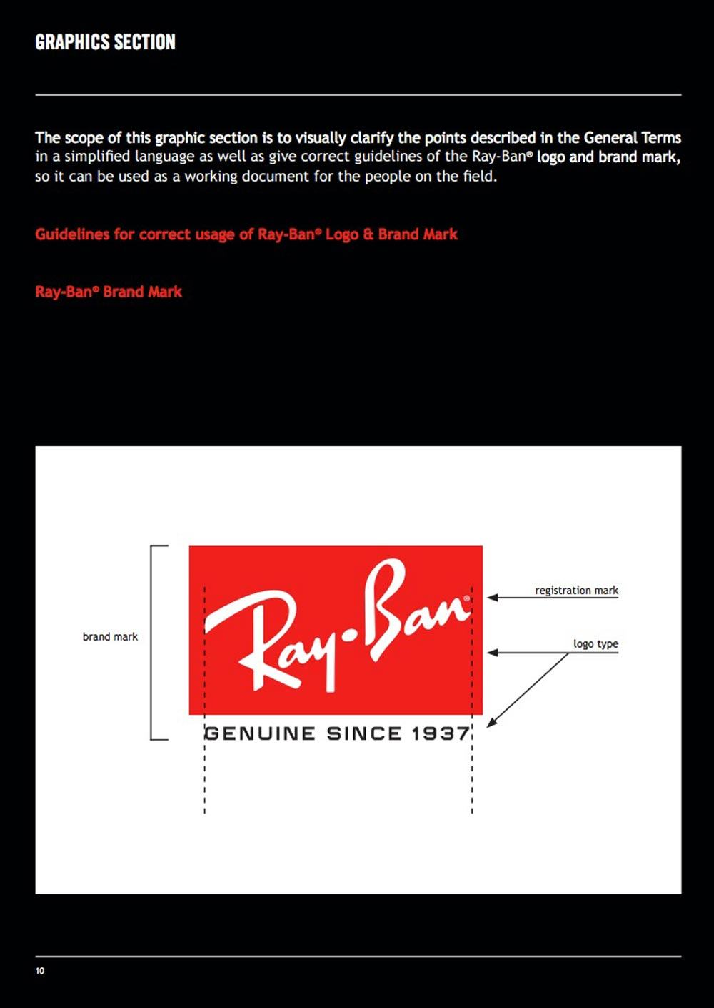 Ray-Ban Guidelines
