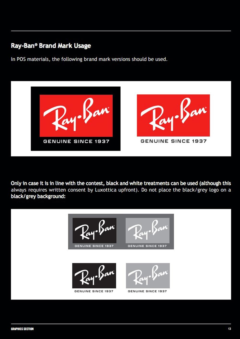 Ray-Ban Graphics Manual