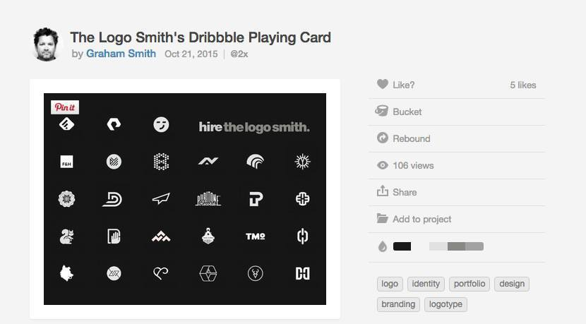 The Logo Smiths Dribbble Graphic Design Playing Card