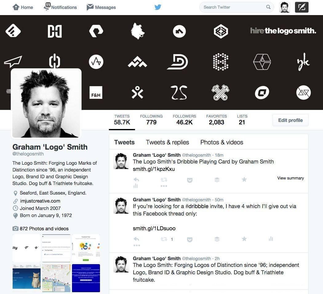 The Logo Smiths Twitter Profile Header