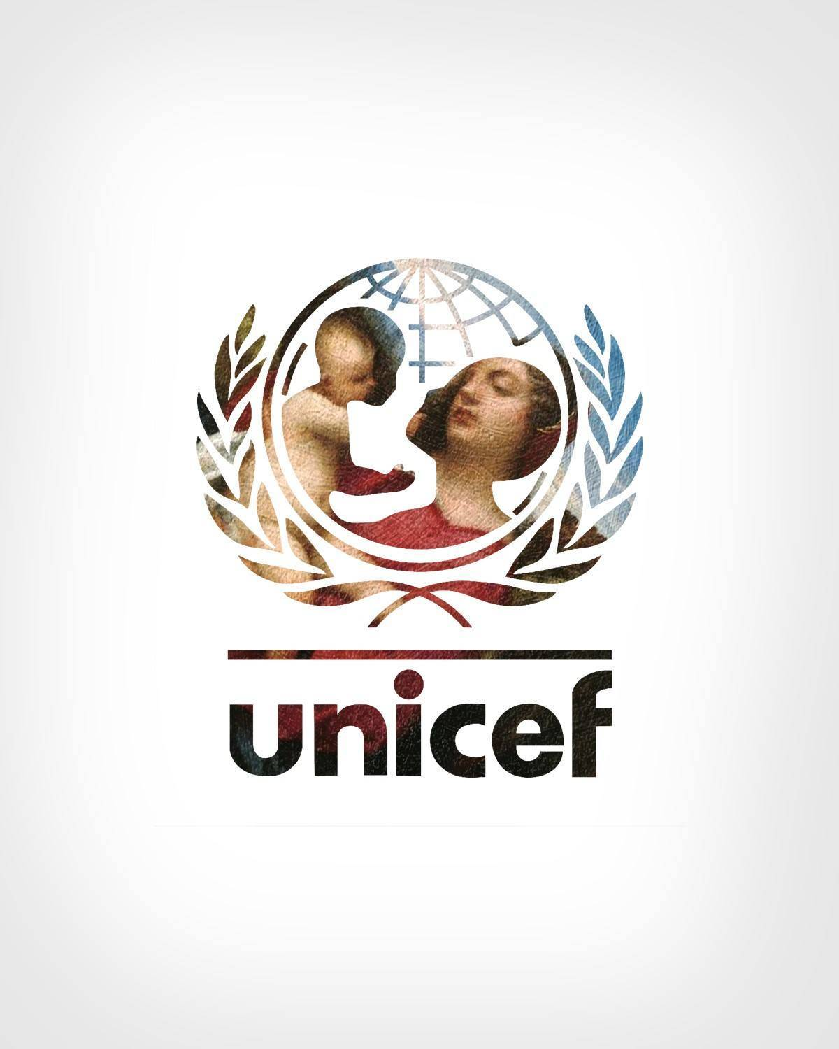 UNICEF + Madonna and Child in a landscape