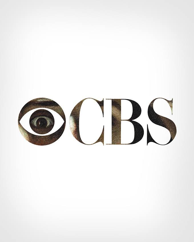 CBS Television Logo + 'The Desperate Man' (Self-Portrait) by Gustave Courbet