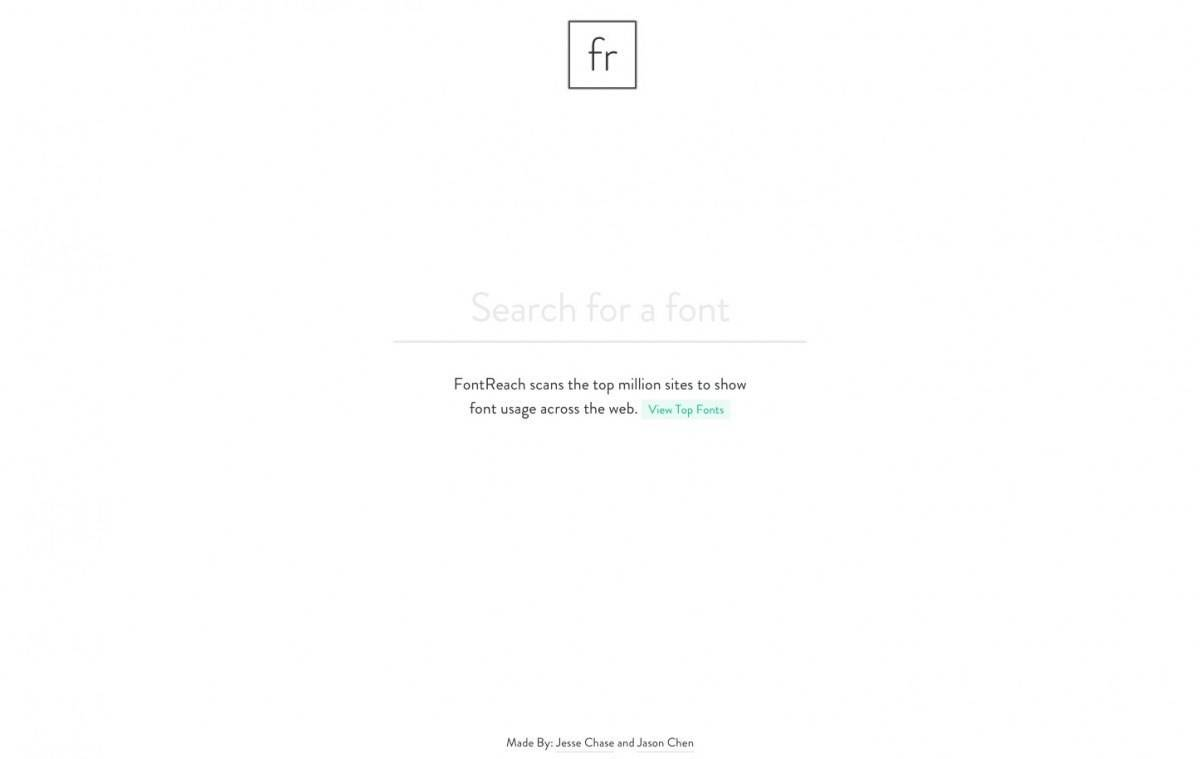 Fontreach - FontReach scans the top million sites to show font usage across the web