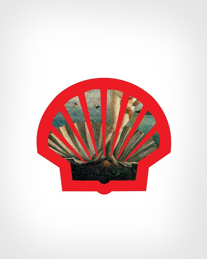 Shell Logo + 'The Birth of Venus' by Sandro Botticelli