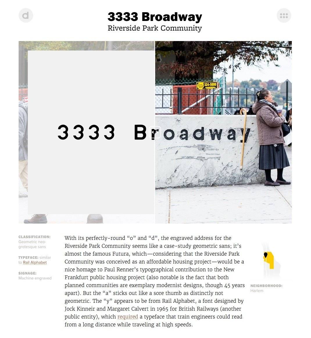 The Typography A to Z of Broadway - 3333 Broadway