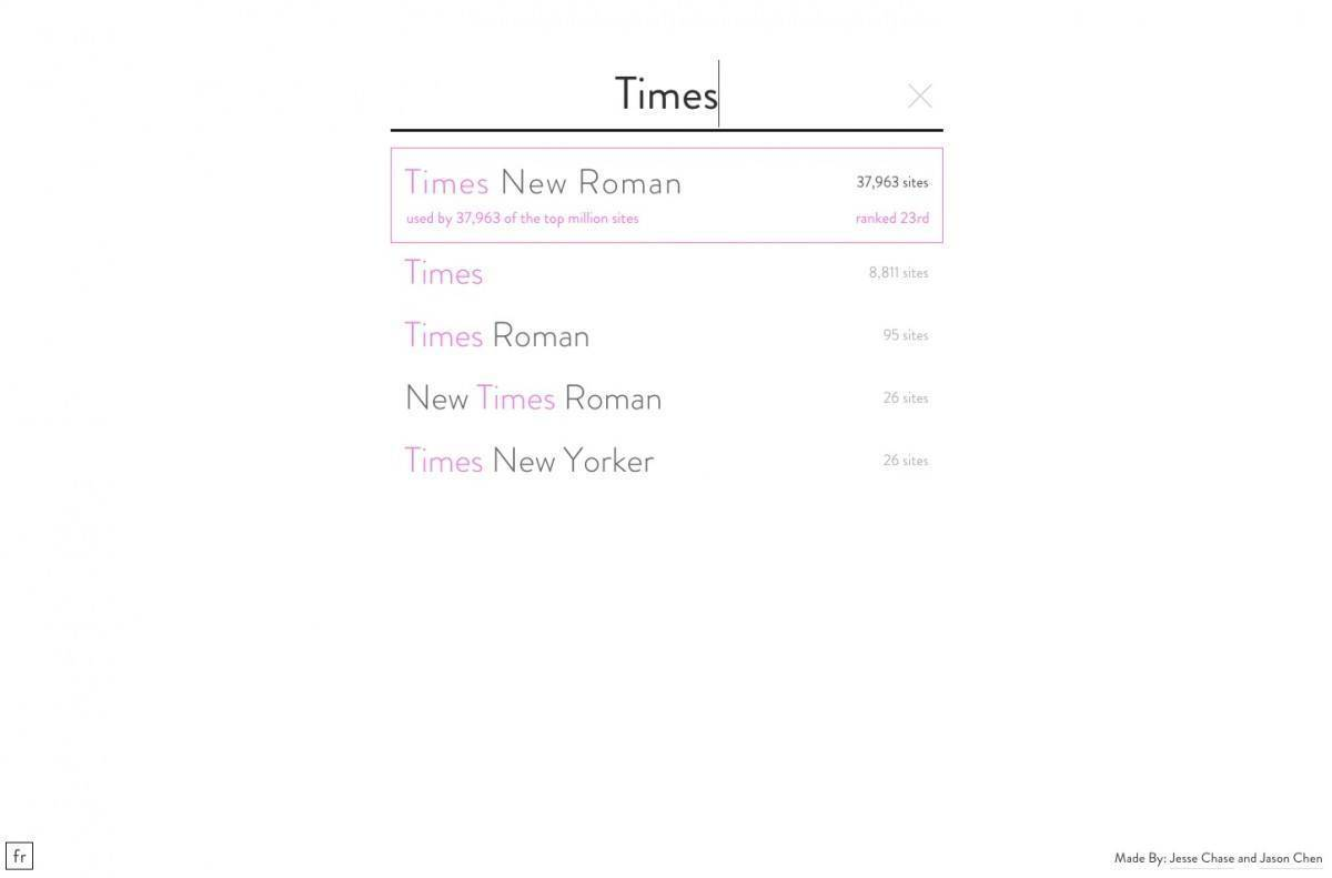 Times Font on Font reach