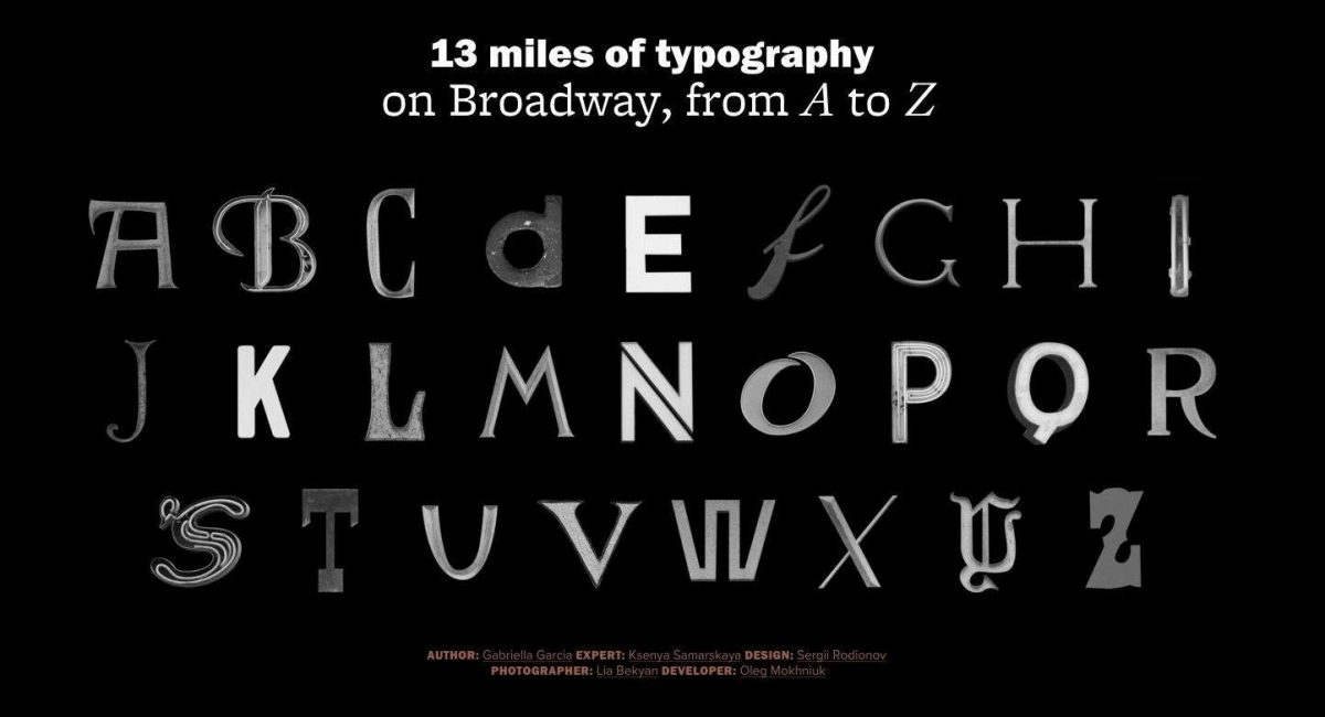 Typography of Broadway