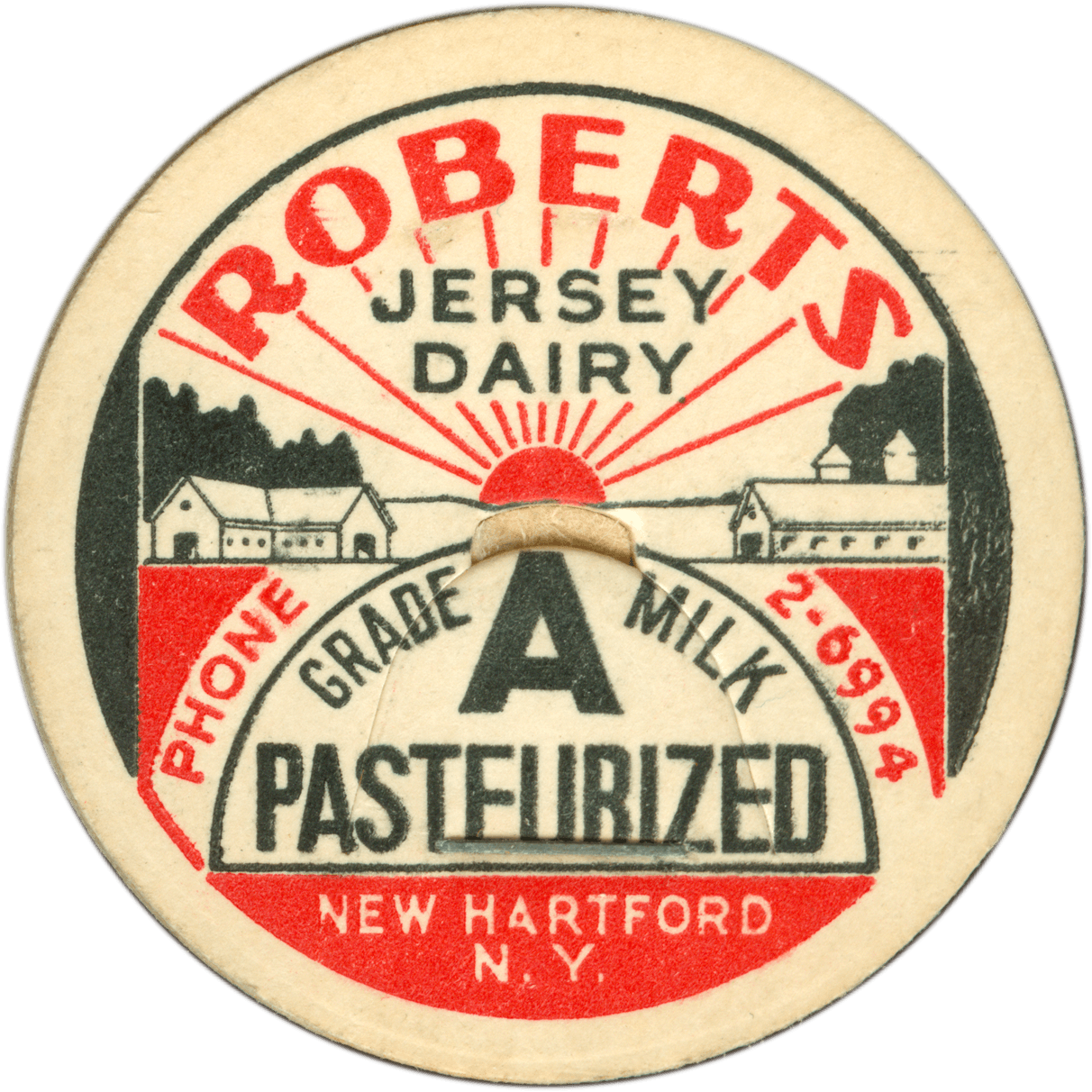 Roberts Jersey Dairy Grade A Milk Pasterurized