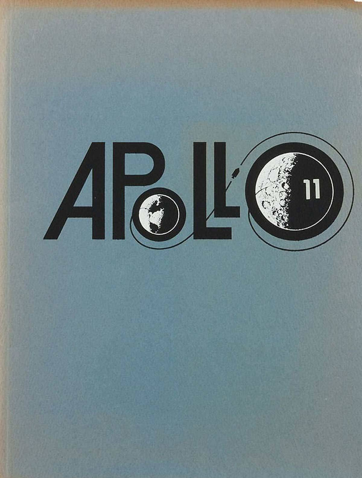 Apollo-11-Logo-Design-on-Vintage-NASA-Brochure