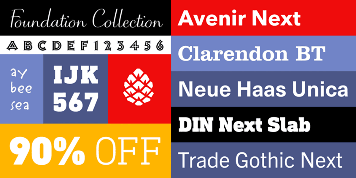 The Foundation Collection Fonts from Monotype