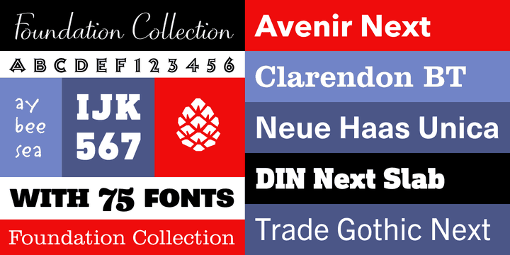 The Foundation Typeface Collection from Monotype