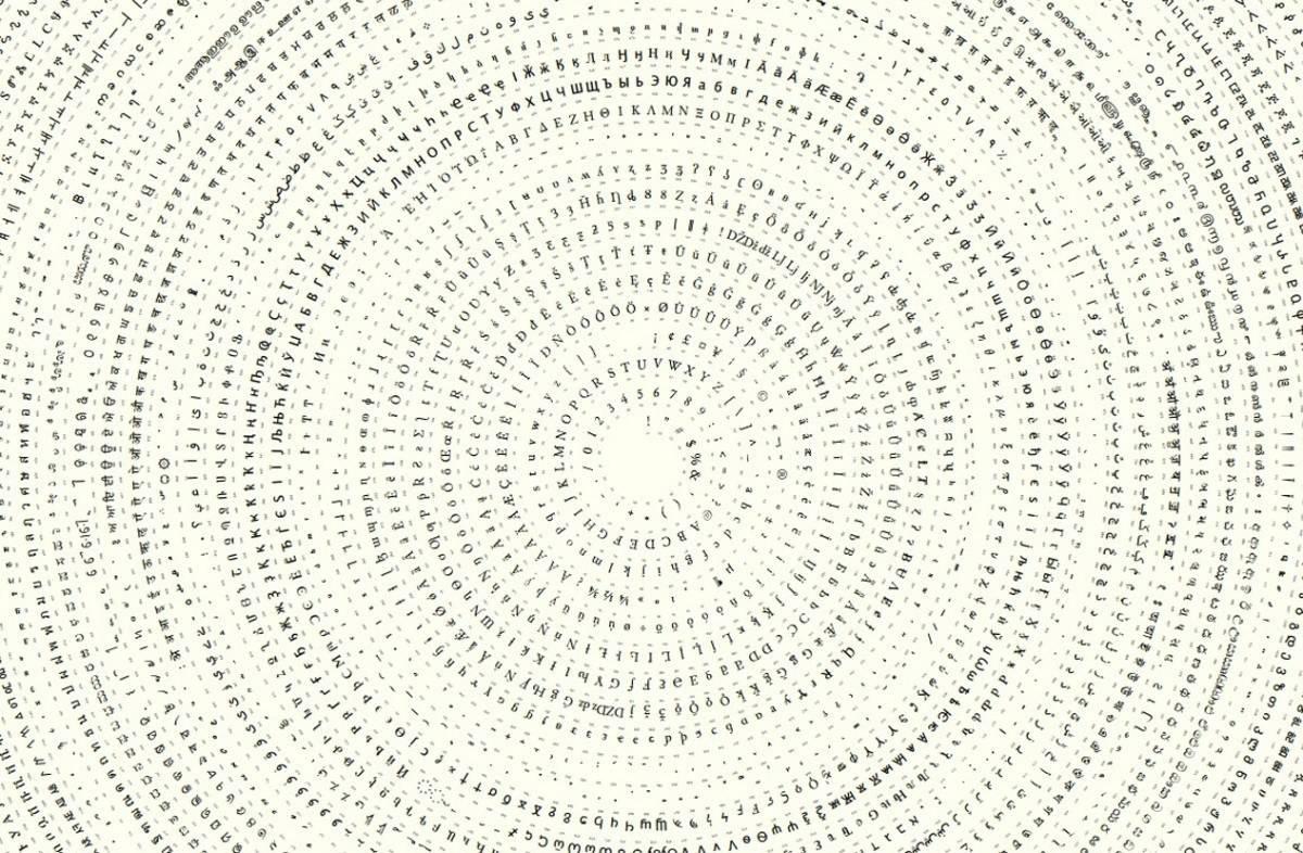 Unicode in a Spiral Lucida Sans