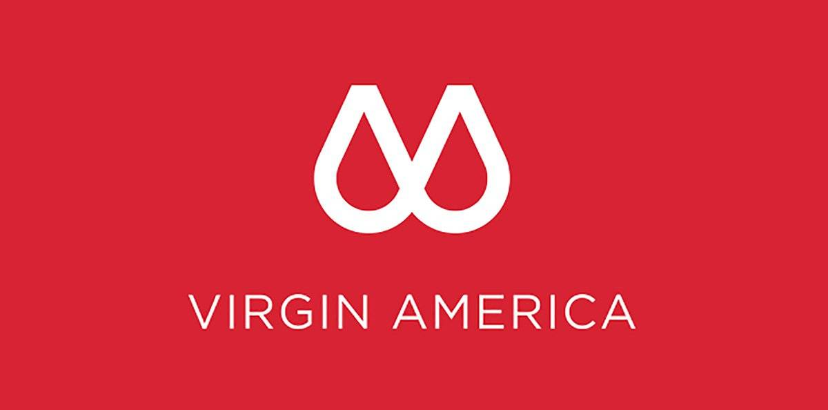 Virgin America Logo Design Rebrand