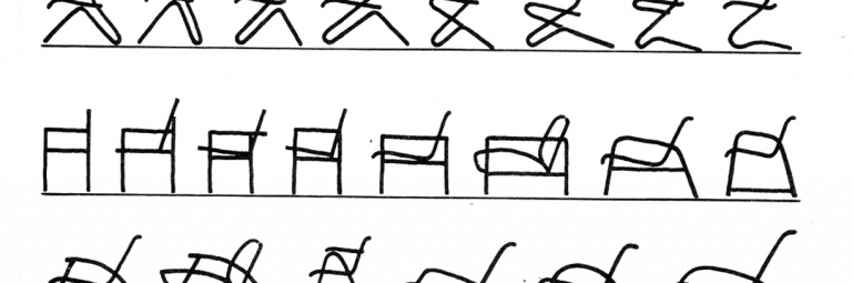 Erich Dieckmann, design development of a metal tube chair