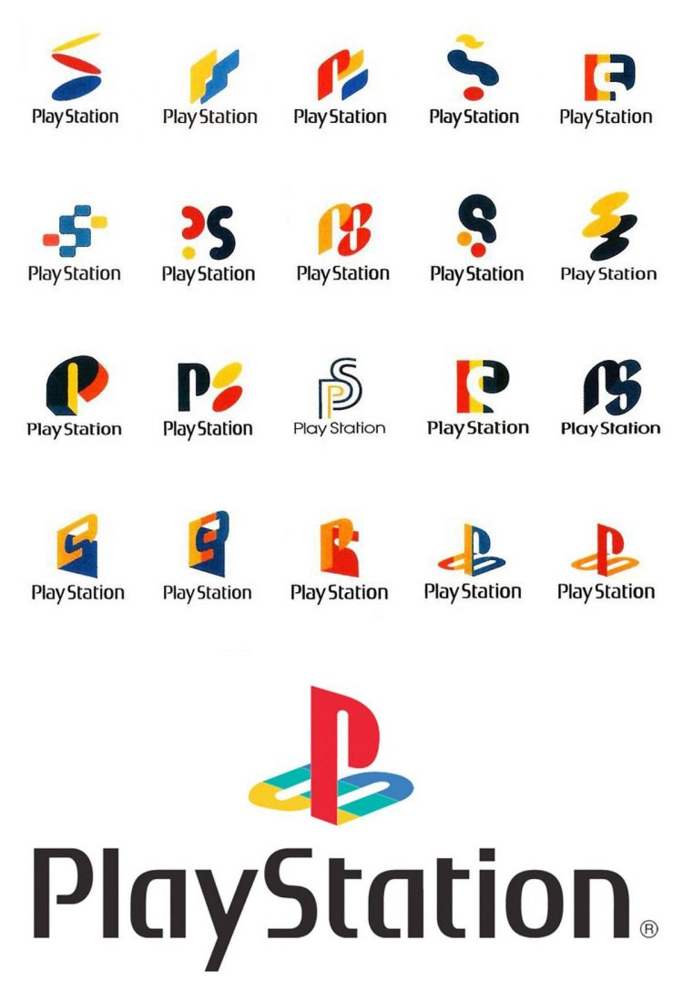 Sony Playstation 1 logo design ideas and concepts