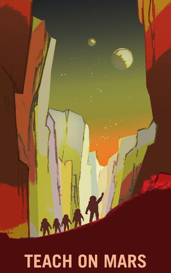 NASA Recruitment Graphic Design Posters