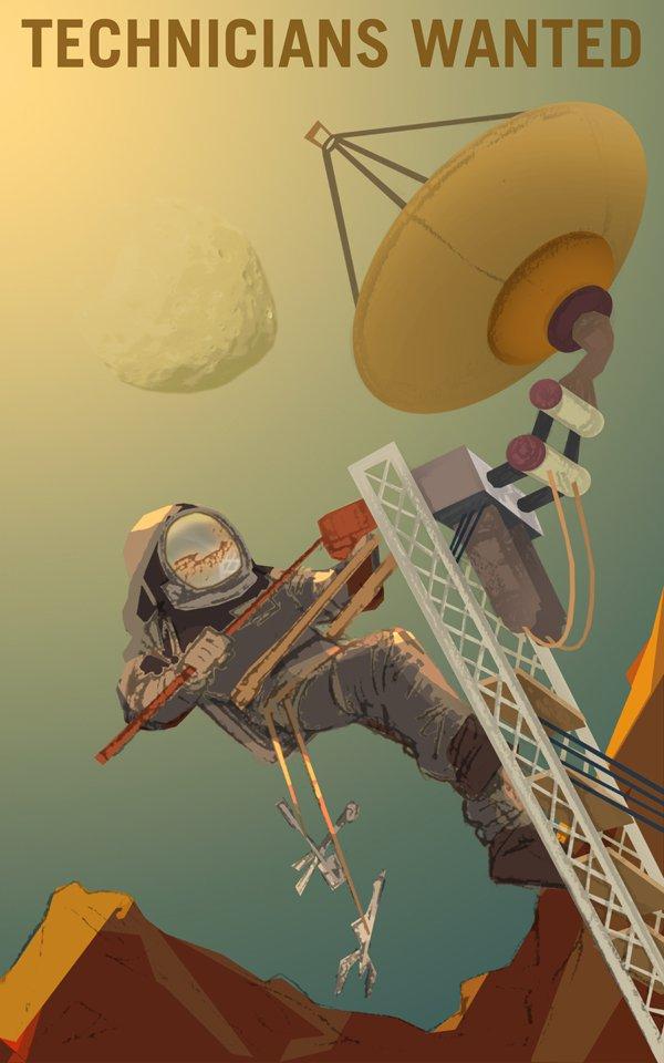 NASA Mars Recruitment Graphic Design Posters
