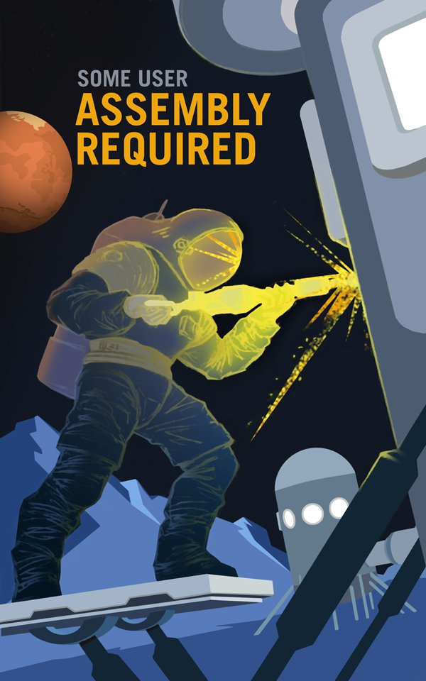 NASA Mars Recruitment Graphic Design Posters