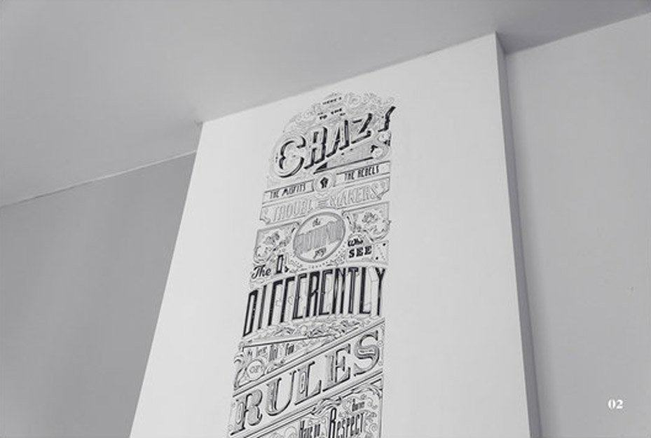 Steve Jobs Tribute Typographic Poster