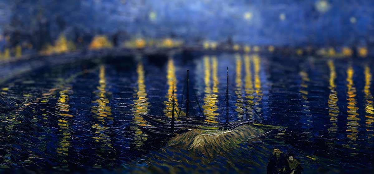 Tilt Shift Van Gogh Painting