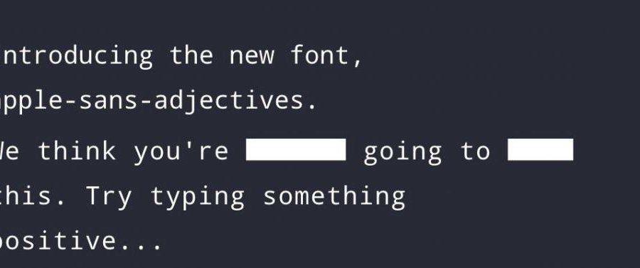 AppleSansAdjectives Font Header