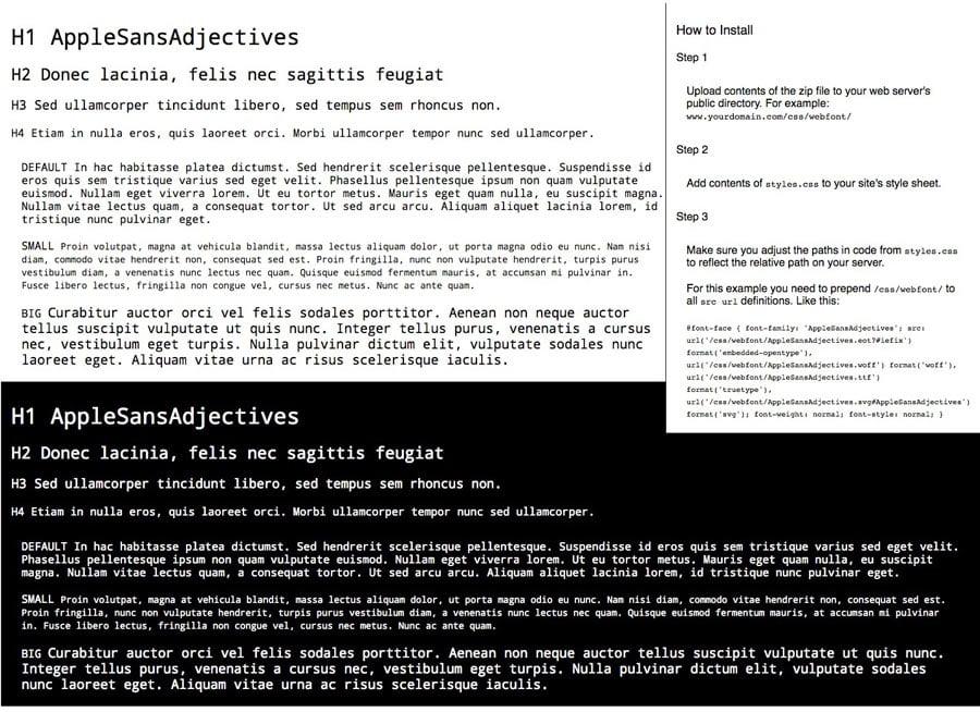 AppleSansAdjectives Font Installation