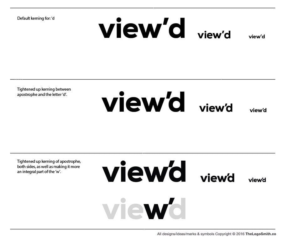 logo design case study typograhy