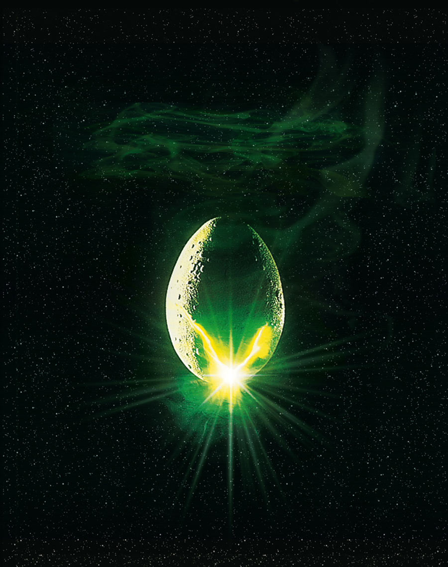 Alien Movie Film Poster without Film Titles & Wording