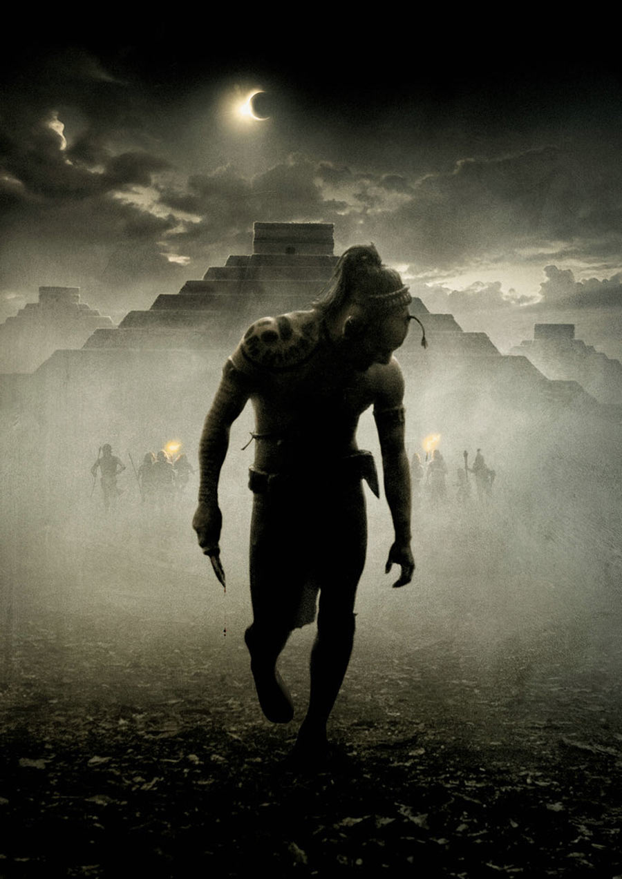 Apocalypto Movie Film Poster without Film Titles & Wording