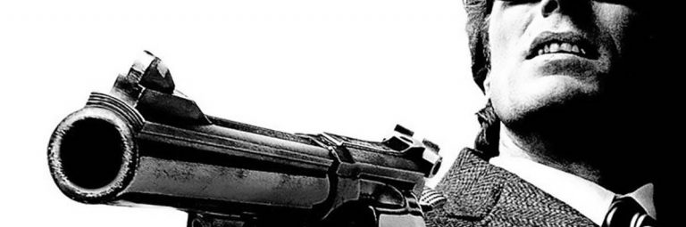 Dirty Harry Movie Film Poster without Film Titles & Wording