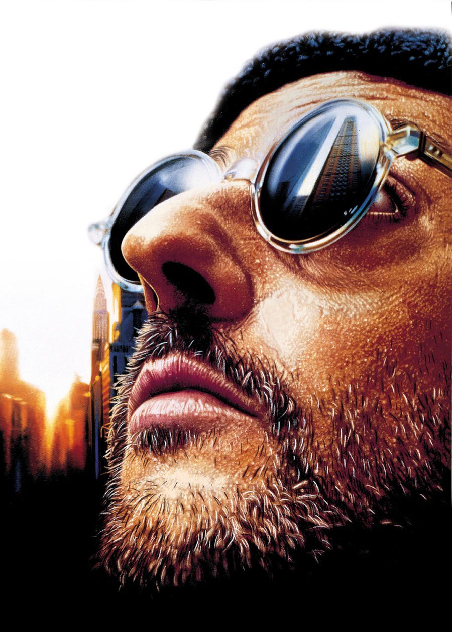 Leon Movie Film Poster without Film Titles & Wording