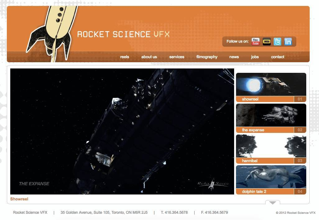 Rocket Science VFX RSVFX Brand Logo Design Case Study 5