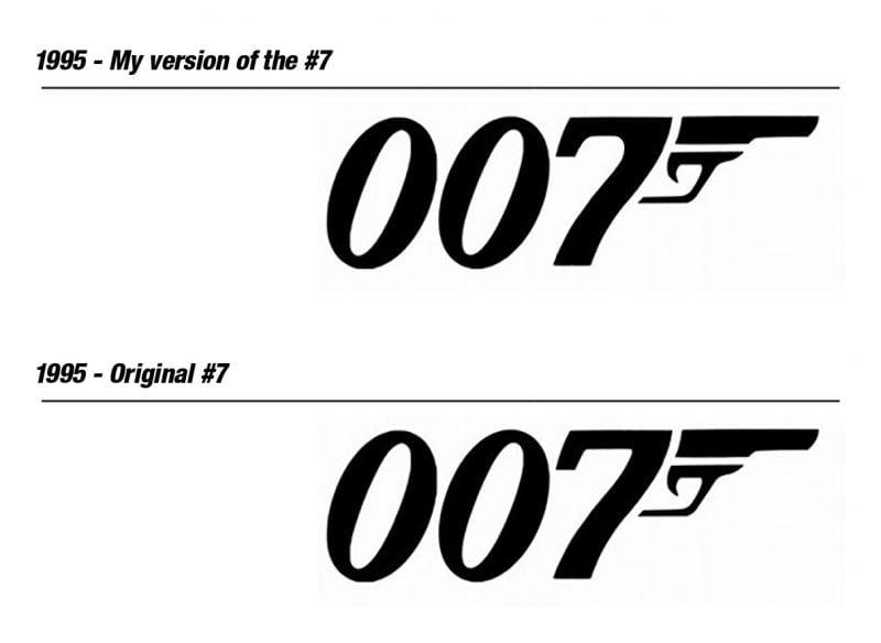 evolution of the 007 james bond movie logo design