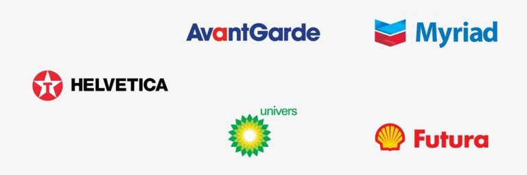 Famous Brand Logo Names Replaced with their Font Names
