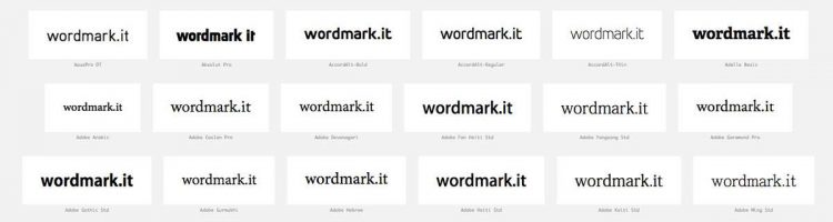 wordmark.it - helping you choose fonts from your font library