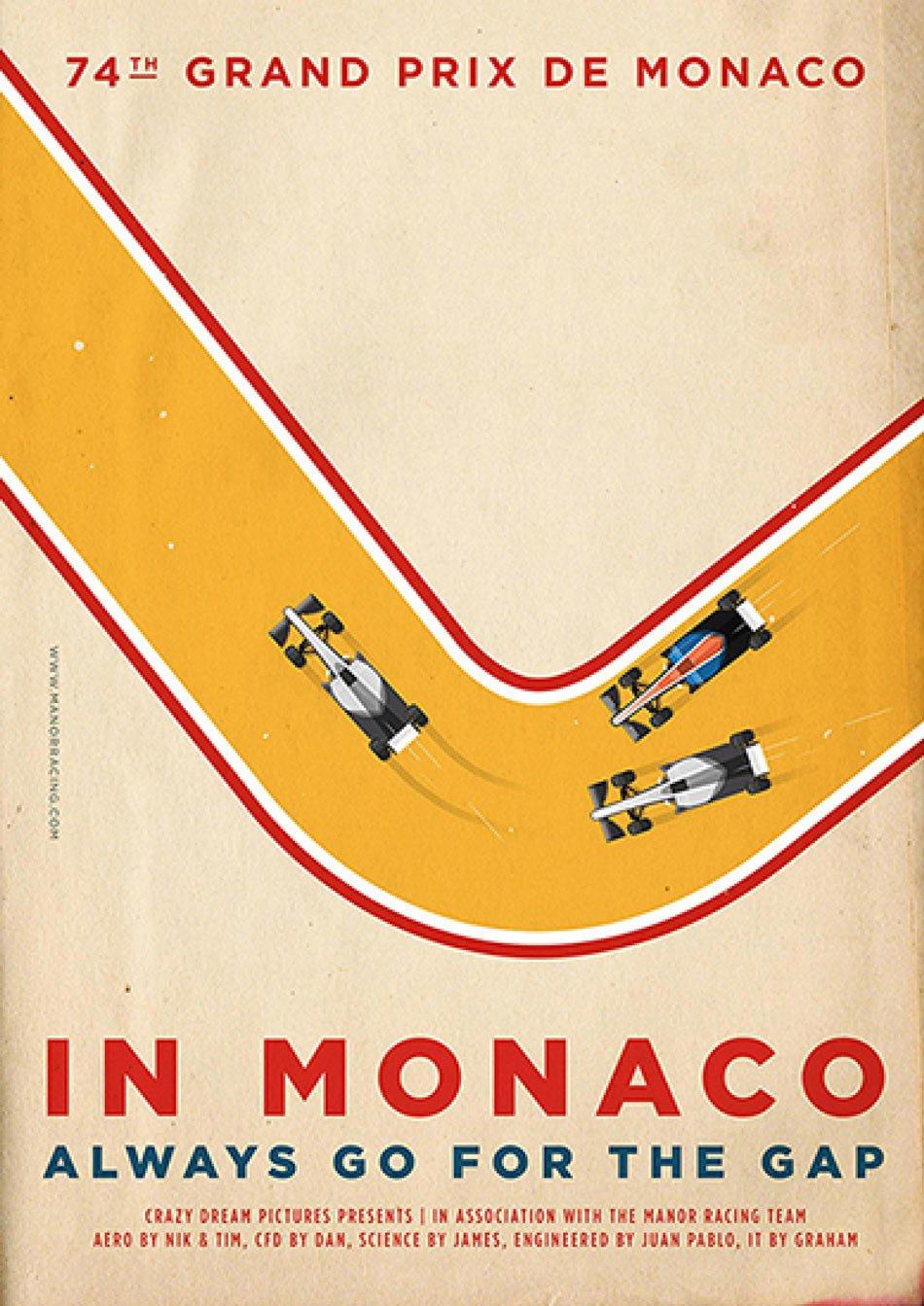 Manor Racing Team formula-f1-2016-monaco-grand-prix-race-posters