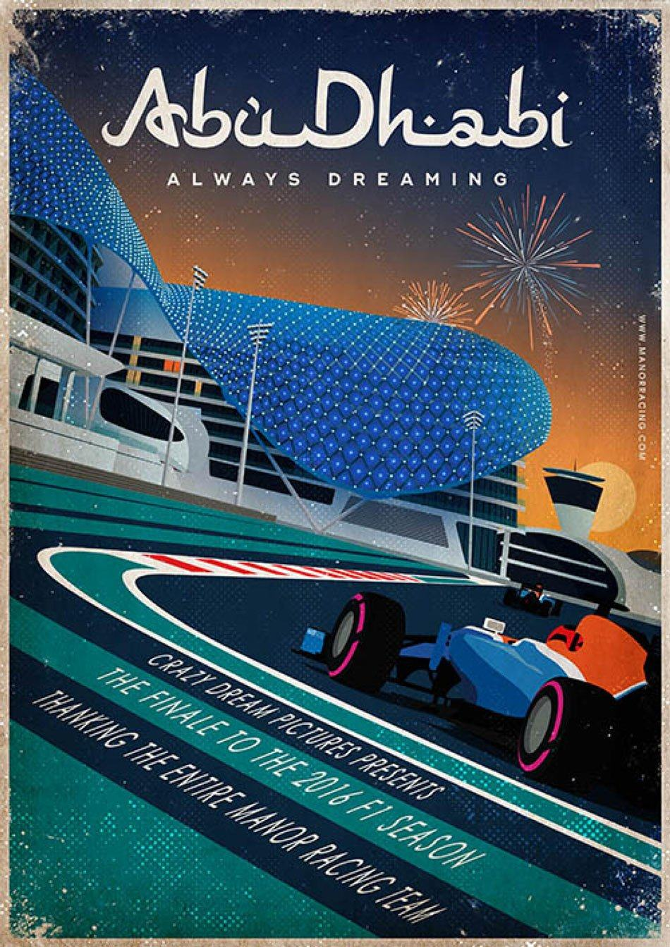 Manor Racing Team formula-f1-2016-melbourne-grand-prix-race-posters