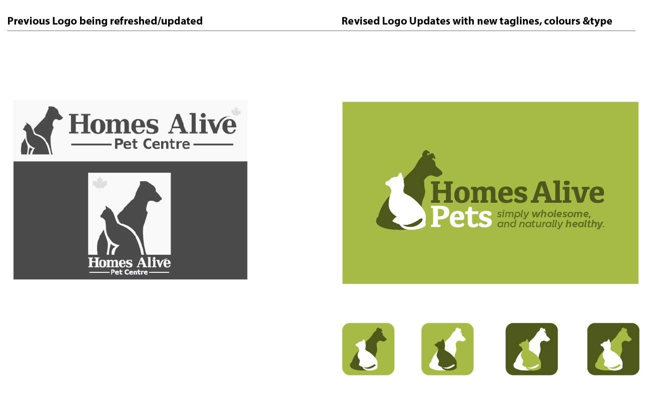 Logo Redesign for Homes Alive Pets