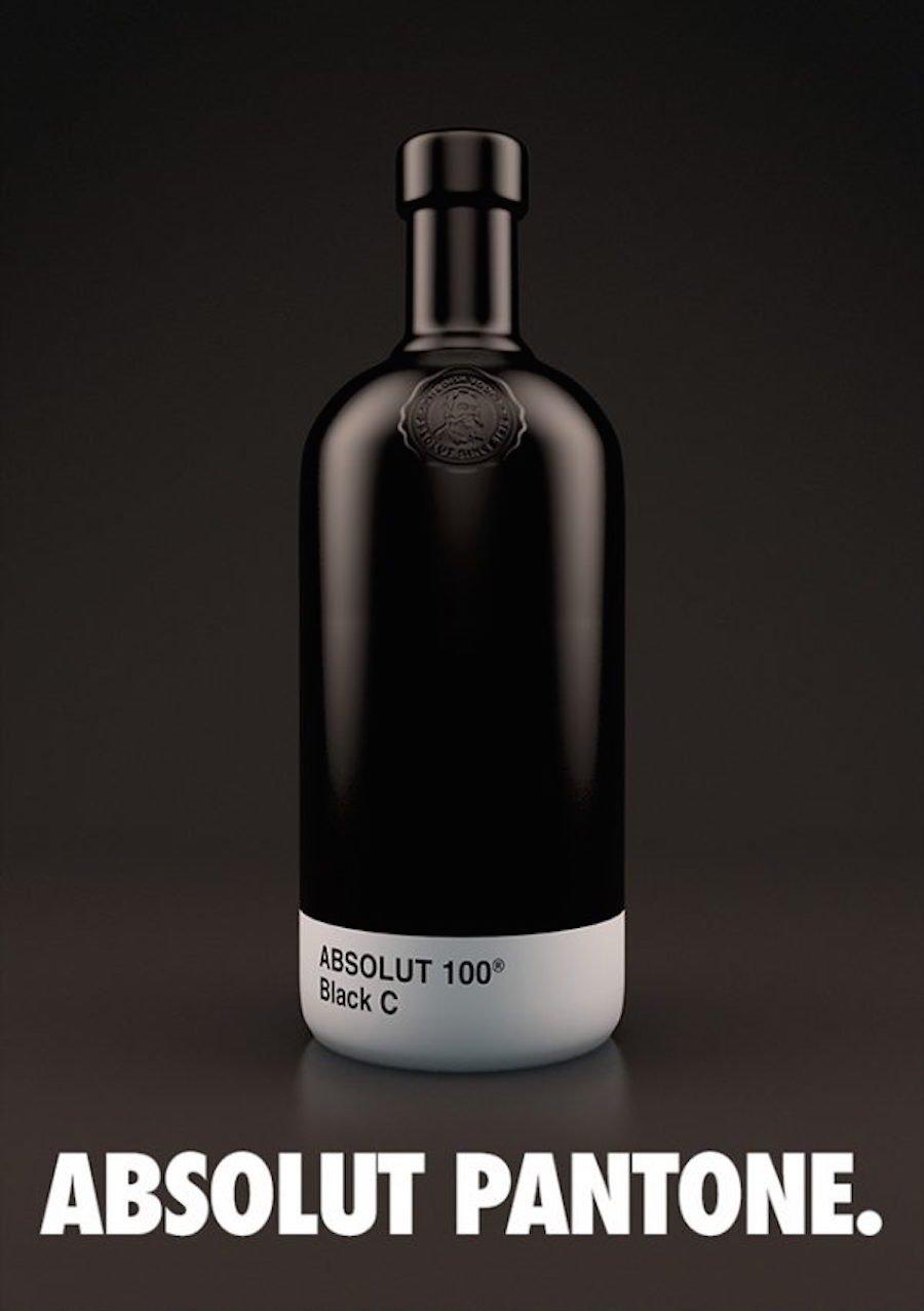 Absolut Vodka Pantone Bottles