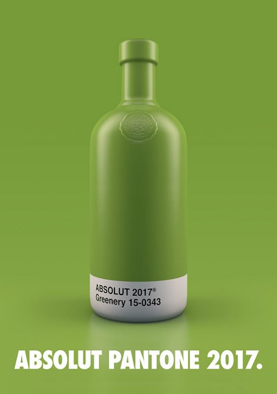 Absolut Vodka Pantone Bottles