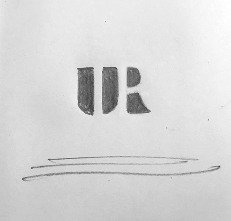 UR Negative Space Logo Design