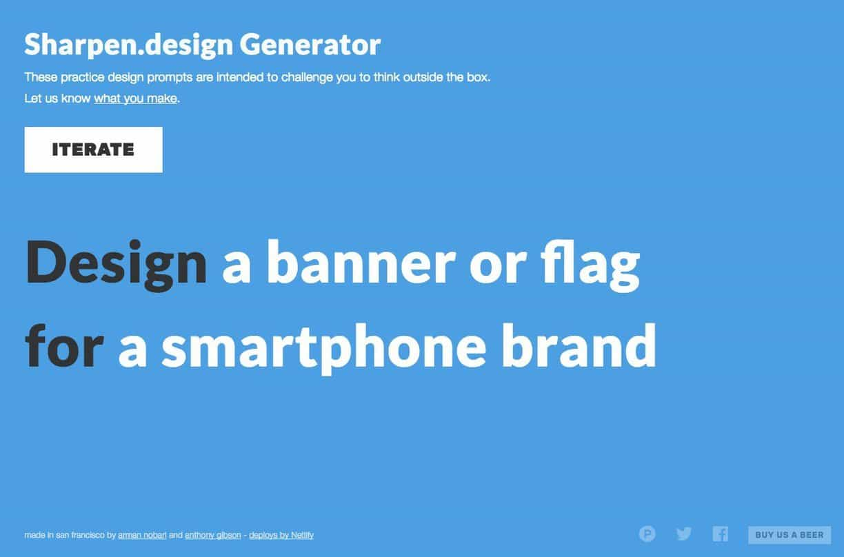 Sharpen Design: Random Graphic Design Challenge Generator