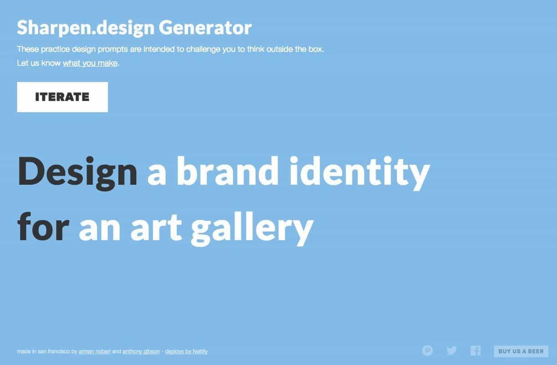 Sharpen Design: Random Graphic Design Challenge Generator