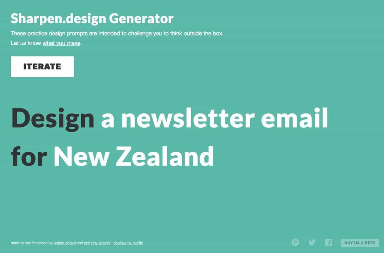 Character Design Challenge Generator : Sharpen design random graphic challenge generator