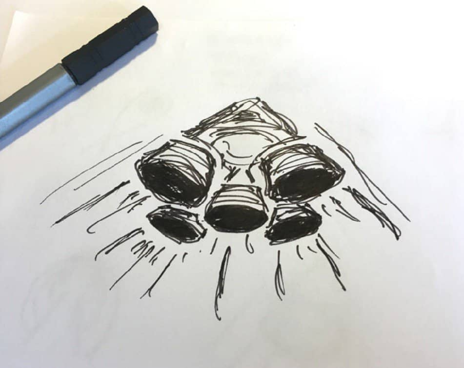 Rocket Themed Logo Design Sketch